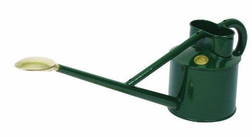 Bosmere Haws Professional Metal Watering Can, 0.9-Gallon/3.5-Liter, Green