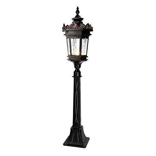 Classic Outdoor Floor Lamp - Modeen European Glass Lantern Outdoor Lawn Lights Floor Lamp Contemporary Tradition Classic Waterproof Antirust Aluminum Street Pillar Bollard Post Light