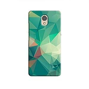 Cover It Up - Dark Green Pixel White Triangles Lenovo P2 Hard Case