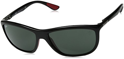 Ray-Ban Men's 0rb8351mf6017160plastic Man Square Sunglasses, Shiny Black, 60 - Ban Ray Ferrari