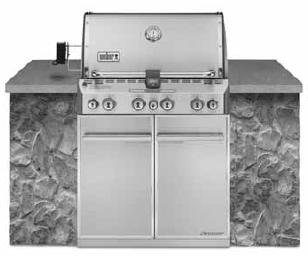 (Weber Summit S-460 Built-In Natural Gas in Stainless Steel Grill)