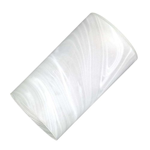 4-5/8 Inch x 7-7/8 Inch Handblown Frosted White Alabaster Cylinder Neckless Fixture Shade