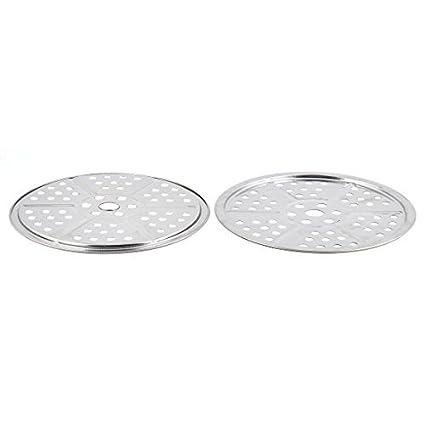 DealMux metal casa cocina cocina Alimentación panificadora vapor Rejilla para bandeja 2 piezas de plata del