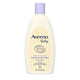 Aveeno-Baby-Calming-Comfort-Bath-with-Relaxing-Lavender-Vanilla-Scents-Hypoallergenic-Tear-Free-Formula-Paraben-Phthalate-Free-18-Fl-Oz-Pack-of-1