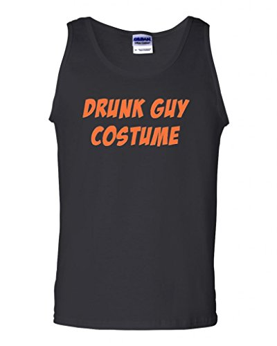 (City Shirts Drunk Guy Costume Funny Halloween Adult Tank Top (Large,)