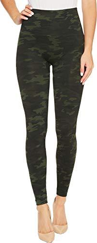 SPANX Women's Seamless Print Leggings Green Camo Small 24 24