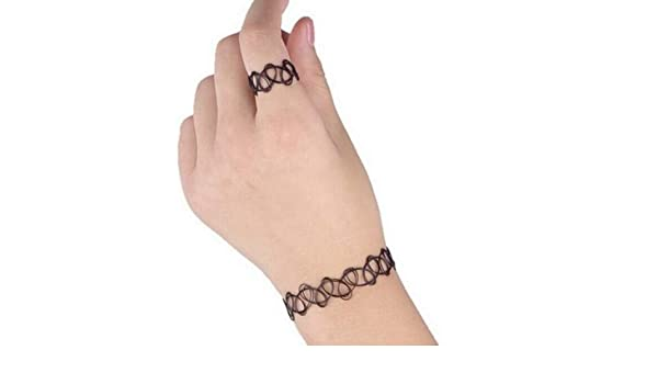 Vintage LIFECART negro elástico tatuaje de Henna Gargantilla de ...