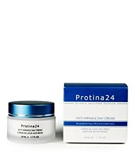 Protina 24 Anti Wrinkle Day Cream - Protein Enriched Regenerating Formula 1.7 oz