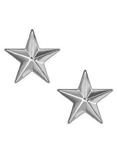 (NICKEL SILVER STAR ARMY MILITARY POLICE GENERAL COLLAR UNIFORM BRASS PINS INSIGNIA EMBLEM 1