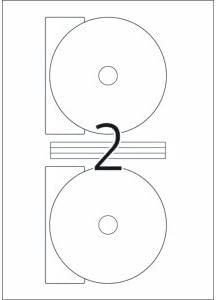 Herma CD-Etiketten Maxi wei/ß Durchmesser 116mm Special A4 VE=50 St/ück