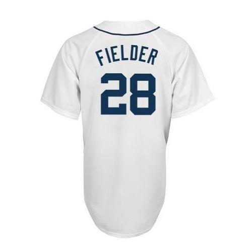MLB Detroit Tigers Prince Fielder White Home Replica Baseball Jersey, White, XX-Large