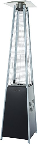 AmazonBasics Outdoor Pyramid Patio Heater, Black (Gas Glass Tube Heaters Patio)