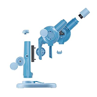 IQCREW Kids Build-My-Own Beginners Microscope Kit, DIY STEM Science Set w/ 15X Magnification & 12 pc Accessory Kit: Toys & Games