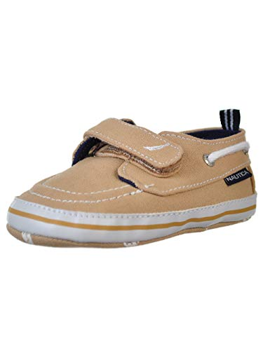 (Nautica Tiny River 2, Baby Prewalker,Velcro Crib Sneakers,Soft Sole Shoes-Tan-2)