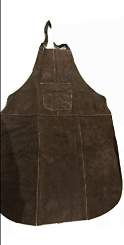 Premium Brown Leather Welders Welding Blacksmith Carpenters Woodworkers Apron KEVLAR Stitched