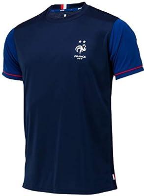 Camiseta de la selección Francesa de fútbol FFF, 2 Estrellas, colección Oficial, Talla para Hombre, Hombre, Color Azul, tamaño Medium: Amazon.es: Deportes y aire libre
