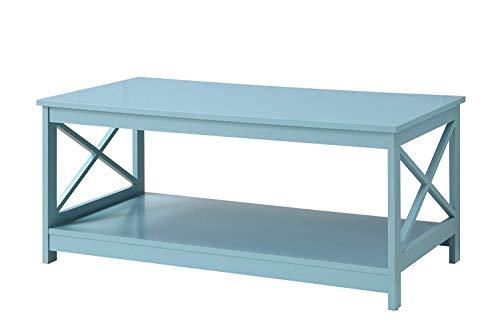 Convenience Concepts 203082SF Oxford Coffee Table, Sea Foam (Room Set Living Seafoam)