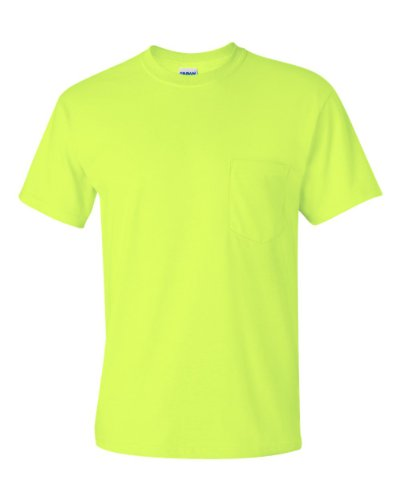 Gildan Ultra Cotton - Short-Sleeve T-Shirt with Pocket. 2300 - Large - Safety (Chest Pocket Cotton T-shirt)