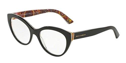 Dolce&Gabbana DG3246 Eyeglass Frames 3033-51 - Top Black/handcart - Glasses Dg Eye