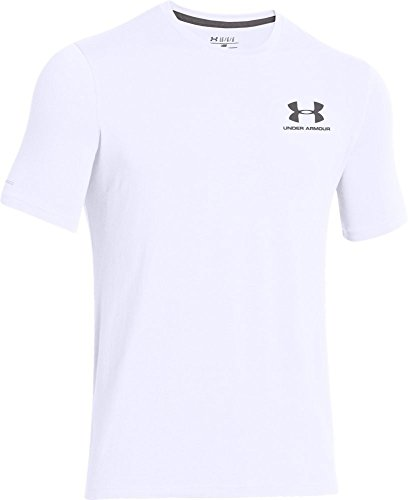 Under Armour Mens Charged Cotton Logo T-Shirt Tee White - XXL