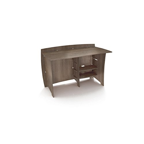Legare Furniture Grey Driftwood Straight Office Desk, 48-Inch