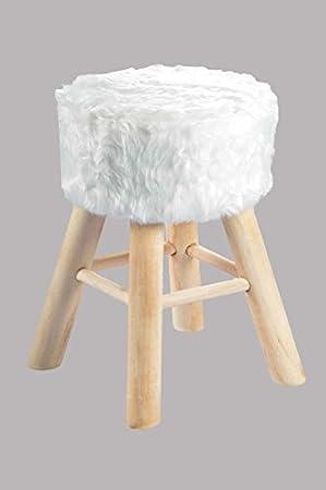 Fellhocker Fell Sitzhocker Fußhocker Stuhl