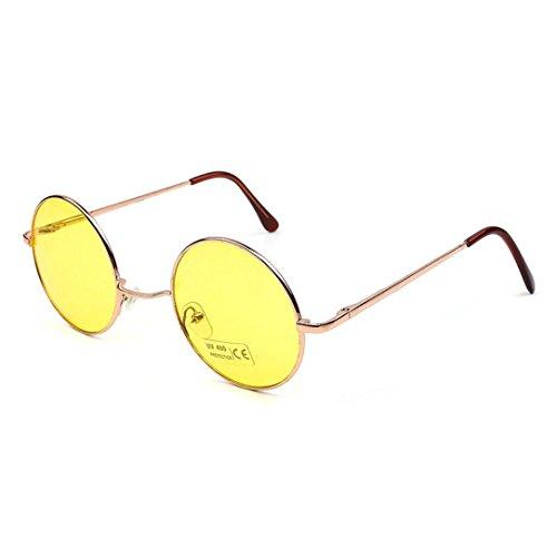 Binmer(TM) Men Women Round Square Vintage Mirrored Sunglasses Eyewear Outdoor Sports Glasse (B, - Sun Glasse