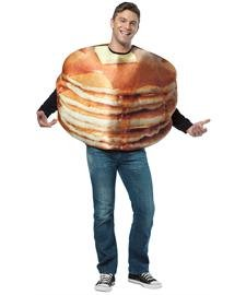 Pancake Halloween Costume (Rasta Imposta Get Real Stacked Pancakes, Brown, One)