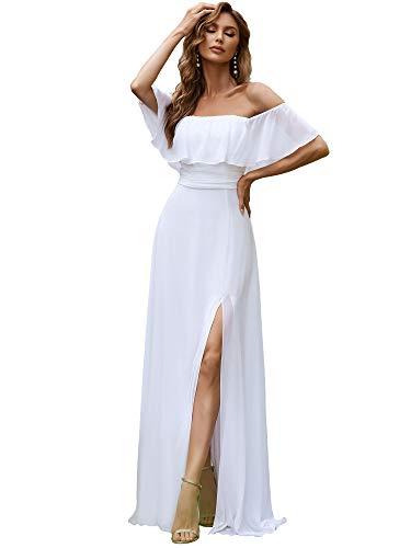 Ever-Pretty Dames Chiffon Elegant Empire Taille met een Blote Schouders Vloerlengte Avondjurken 00968