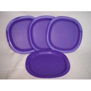 Tupperware Luncheon Plates - Purple