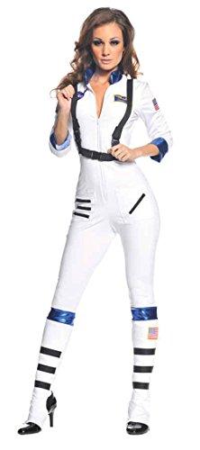 Underwraps Blast Off Astronaut Costume (GTH Women's Sexy Uniforms Space Blast Off Astronaut Halloween Costume, L (12-14))