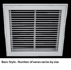 30 X 20 (Duct Opening Size) Air Return Filter Grille Steel Bar Face (Color-White) by Pro Select