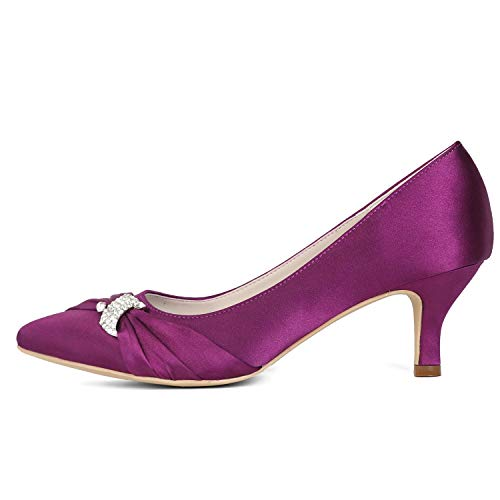 A Baile L Zapatos Medio Tacón Flor Altos Marfil Boda Tamaño 35 Para dama De 43 Mujer Honor yc Tacones Satén 6H5qr60p