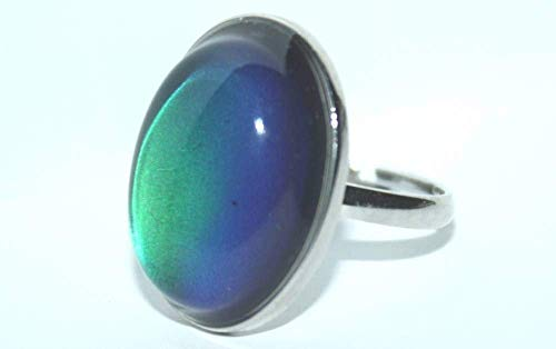 Bewild Original Oval Mood Ring (Adjustable Size) One Size fits -