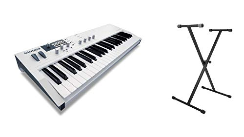 (Waldorf White Blofeld Keyboard Bundle with On-Stage KS7190 Classic Single-X Keyboard Stand (2)