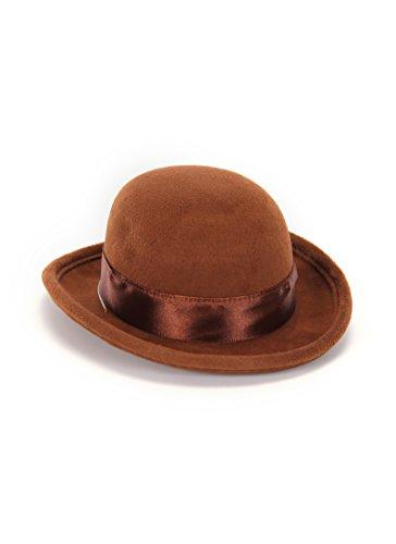 Elope Brown Mini Bowler Hat