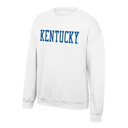 Kentucky Sweatshirt White - Elite Fan Shop Kentucky Wildcats Crewneck Sweatshirt White Bold - XXL