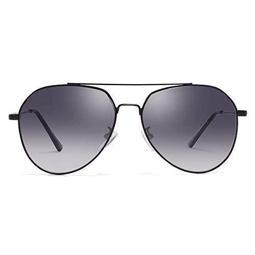 Gafas de sol de aviador clásicas para mujeres PARZIN Hombres UV400 Gafas de sol Gafas de sol de metal PZ3641