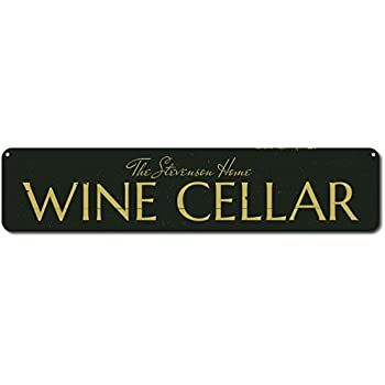 The Lizton Sign Shop Wine Cellar Sign Personalized Home Wine Decor Custom Family Name  sc 1 st  Amazon.com & Amazon.com: The Lizton Sign Shop Wine Cellar Sign Personalized Home ...