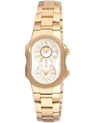 Philip Stein Womens 1GPMWGSSGP Signature Yellow Goldtone Silver Dial Watch