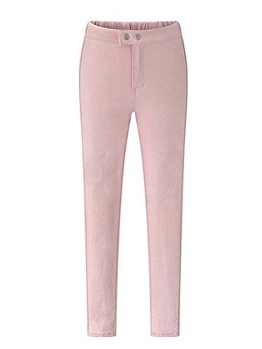 8149d7a89c85 Slim Pantalons Casual Skinny Femmes Pantalon pink Crayon Droit Jeggings  Stretch Pantalons wBHfAqaYxw