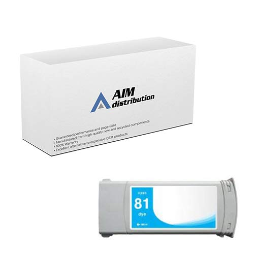 AIM Compatible Replacement for HP NO. 81 Cyan Dye Inkjet (680 ML) (C4931A) - Generic