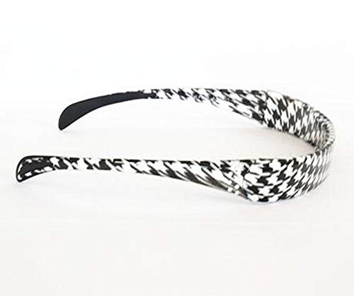 Hinged Headband fits like sunglasses providing lift and style without giving you a headache - by SqHair Band (Houndstooth)