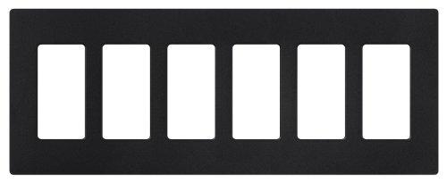 Lutron SC-6-MN Satin Colors 6-Gang Wallplate, Midnight