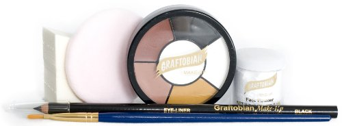 Graftobian 181571 Cat Kit - (Easy Halloween Cat Makeup)