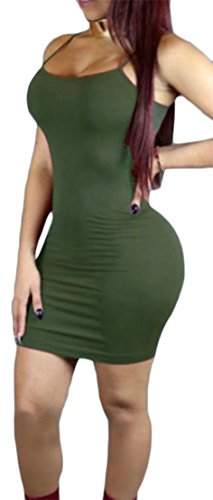 Club Strape Elastic Cromoncent Solid Dresses Midi Bodycon Womens Green Army Bandage 6qnR0pxER