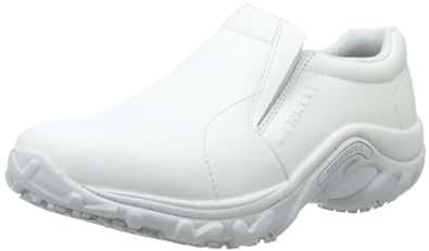 Merrell Women's Jungle Moccasin Pro Grip Slip-Resistant Work Shoe,WHITE,5 M US