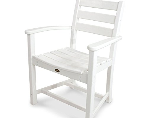 Trex Outdoor Furniture Monterey Bay Dining Classic White Arm Chair by Trex Outdoor Furniture by Polywood