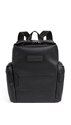 Hunter Boots Men's Original Rubberised Leather Backpack, Black, One Size by Hunter