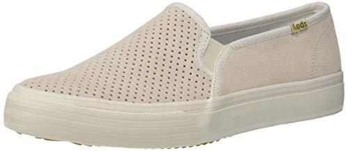 Keds Women's Double Decker PERF Suede Shoe, Cream, 8 M US